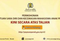Permohonan Bantuan Kecemasan Mahasiswa Negeri Perak