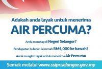 Permohonan Air Percuma Selangor 2021 Online (Skim Air Darul Ehsan)