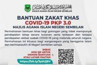 Bantuan Zakat Khas Covid-19 (MAINS) Permohonan & Syarat Kelayakan